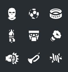 Set riotous fan icons vector