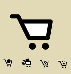 Shopping cart icon set isolated vector