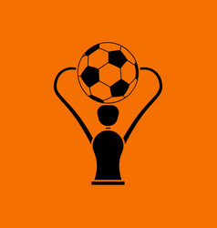 Soccer cup icon vector