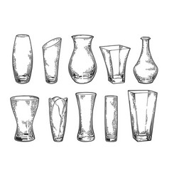 vase set sketch 2 vector image