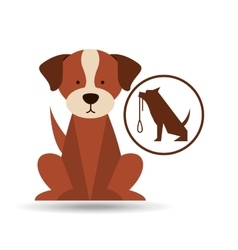 veterinary dog care training icon vector image