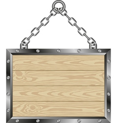 wooden plaque vector image