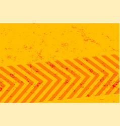 Yellow grunge background with orange stripes vector