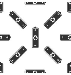 battery with recycling icon seamless pattern vector image vector image