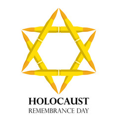 holocaust remembrance day may 5 jewish star made vector image