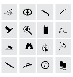 hunting icon set vector image vector image