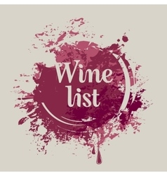 spots and splashes of Wine list vector image vector image