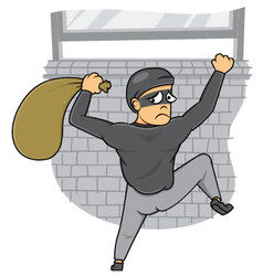 Thief Caught vector image