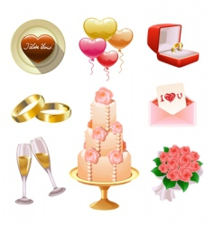 wedding set vector image vector image