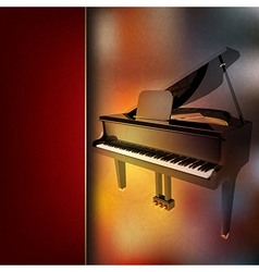 abstract grunge red music background with grand vector image