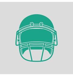 American football helmet icon vector image vector image
