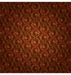 Brown vintage floral seamless pattern vector image
