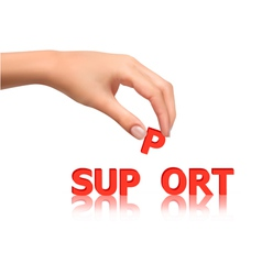 hand with support vector image vector image