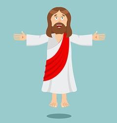 Jesus Christ Cheerful Son of God biblical vector image vector image