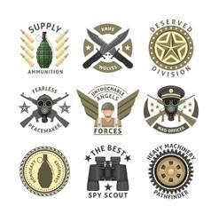 Military Units Emblems vector image