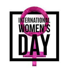 womens day poster vector image