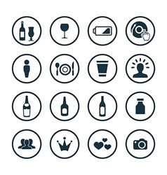 bar icons universal set vector image vector image