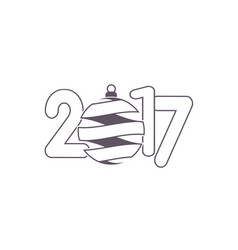 celebration logo with christmas ball on colorful vector image