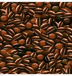 coffee beans seamless pattern vector image vector image