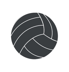 silhouette ball volleyball sport icon vector image