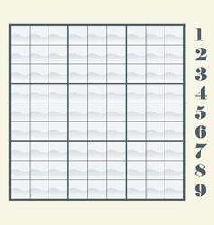 sudoku scheme vector image vector image