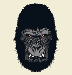 Angry gorilla vector image vector image