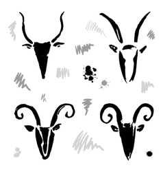 Goat 2015 set New year Symbol vector image vector image
