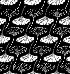 leaf gingko sketch doodle set 2 black vector image vector image