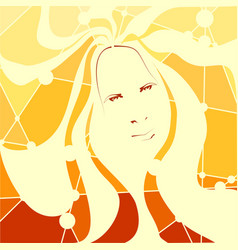 Portrait of a woman mosaic style vector