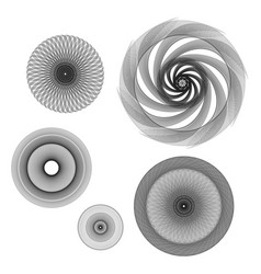simple but gorgeous 3d black and white mandalas vector image