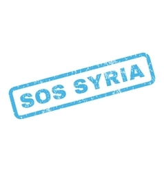 Sos Syria Rubber Stamp vector image vector image