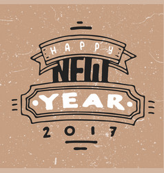 2017 happy new year background greeting vector
