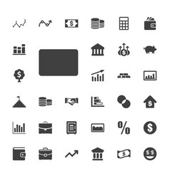 33 finance icons vector