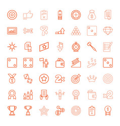 49 success icons vector image