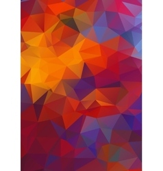Abstract 2D geometric colorful background vector image
