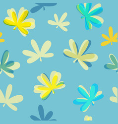Abstract natural leaves seamless pattern vector