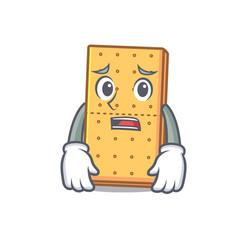 Afraid graham cookies mascot cartoon vector