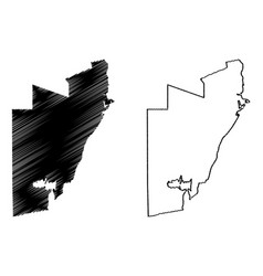 Al wakrah state qatar municipalities qatar vector