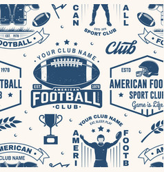 American football seamless pattern background vector