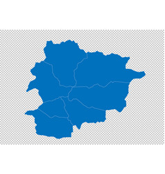 andorra map - high detailed blue map with vector image