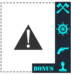 attention icon flat vector image
