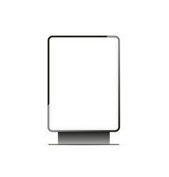 Blank lightbox mockup isolated vector