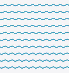Blue waves seamless pattern vector