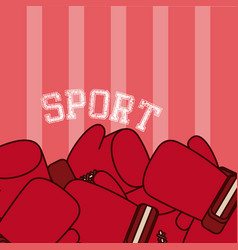 boxing sport gloves vector image