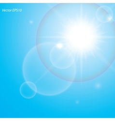 bright shining sun vector image