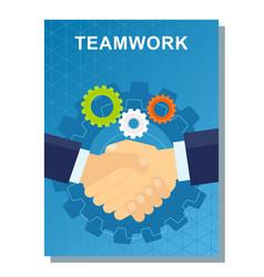 Business poster teamwork vector