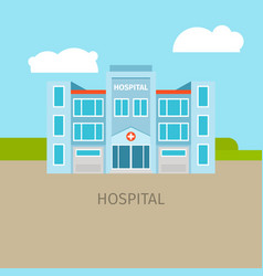 colored medical hospital building vector image
