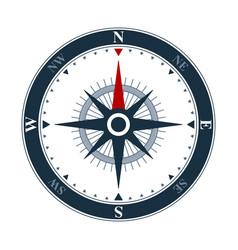 compass rose icon design wind rose and navigation vector image