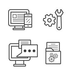 computer setting vector image