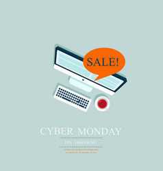 Cyber monday deals design vector